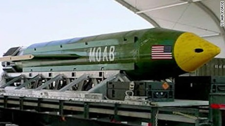 First on CNN: US drops largest non-nuclear bomb in ...