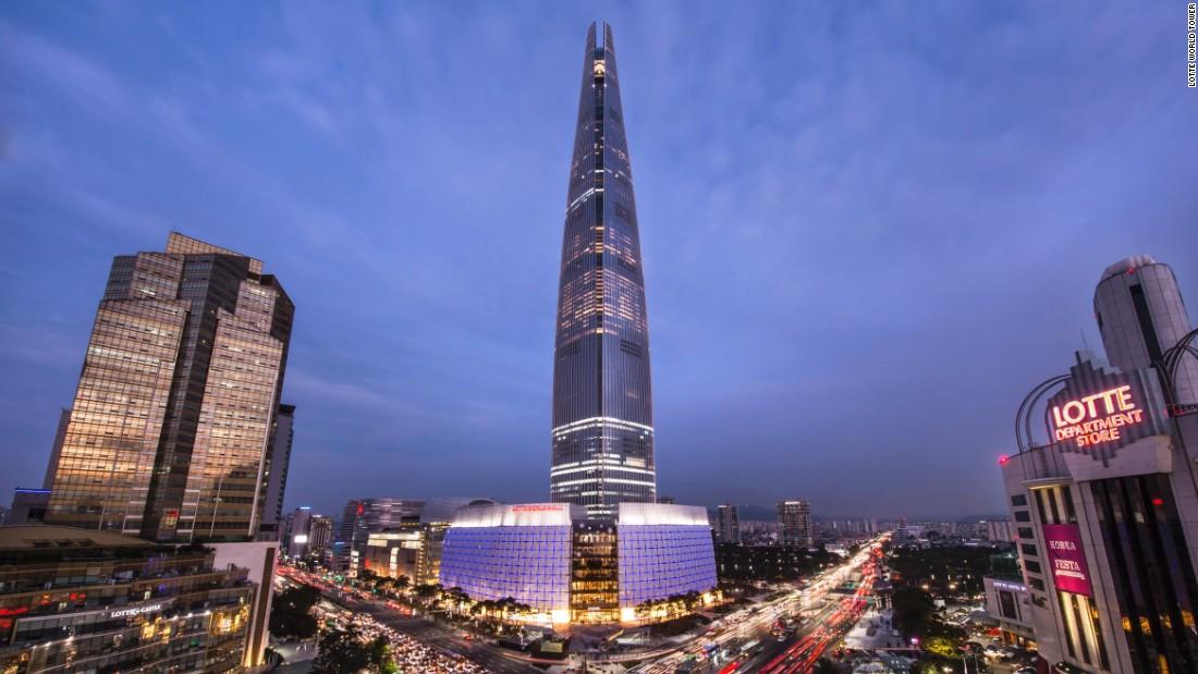 Αποτέλεσμα εικόνας για lotte world tower inside