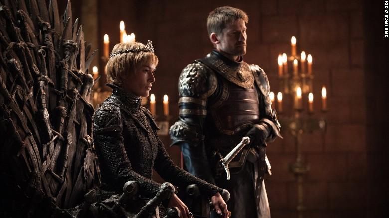 Lena Headey as Cersei Lannister and Nikolaj Coster-Waldau as Jaime Lannister