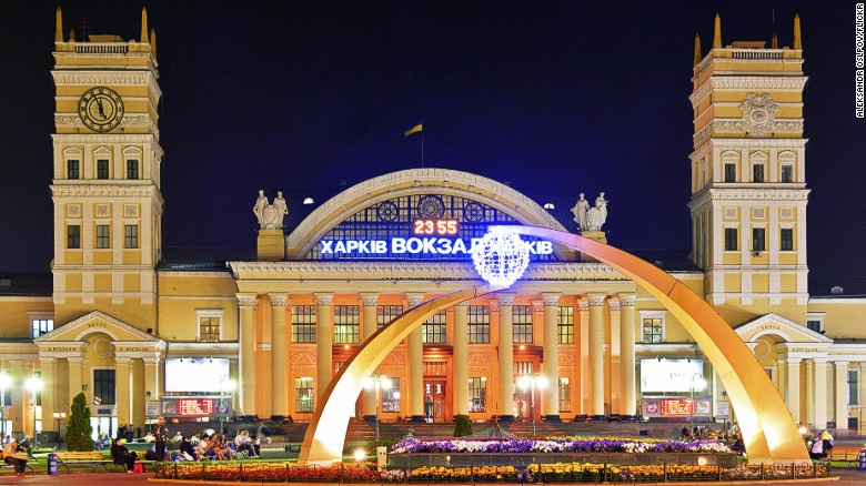 <strong>Kharkiv: </strong>The railway station is one of the gems of Kharkiv, once the capital of Ukraine and now its second city. Photo: Aleksandr Oslpov/Flickr.