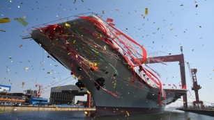 The only aircraft carrier built in China