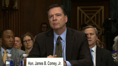 Image result for james comey at senate hearing