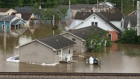 Central Us Flooding Aerial Images Show Devastation Cnn