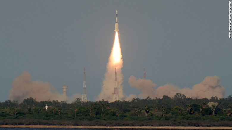 The Indian Space Research Organisation's GSAT-9 satellite was launched Friday, May 5, 2017 in the state of Andhra Pradesh.