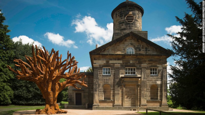 """""""Iron Tree"""" (2013) by Ai Weiwei at Yorkshire Sculpture Park"""