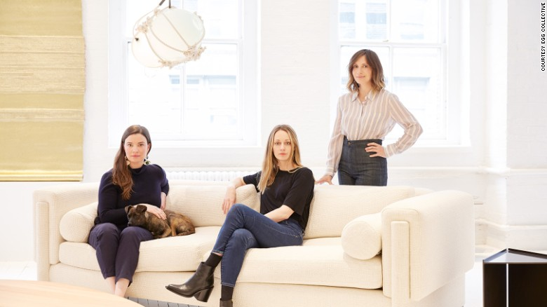Egg Collective founders Stephanie Beamer, Crystal Ellis and Hillary Petrie.
