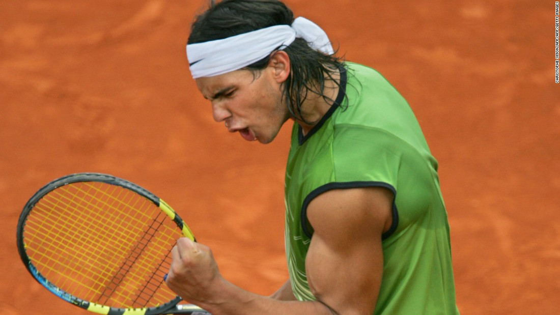 A lot has changed since a 19-year-old Rafael Nadal became only the second man in history to win Roland Garros at the first attempt. The bulging biceps, long hair and headband remain, but the Spaniard's sense of style has certainly changed.