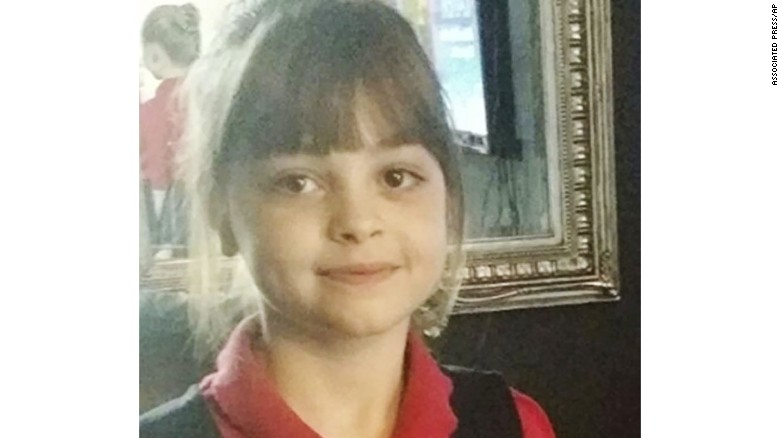 An undated photo of Saffie Rose Roussos, the youngest of the so-far victims of an attack at Manchester Arena.