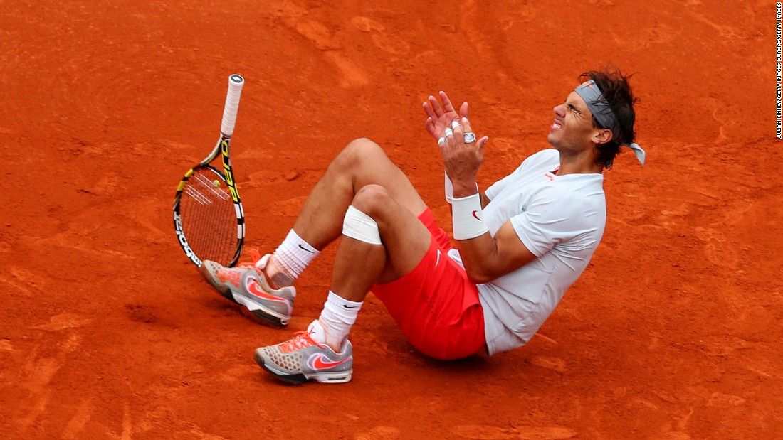 The 2013 French Open was the debut of Nadal's latest wardrobe change: the short shorts. In an all-Spanish final, Nadal defeated David Ferrer in straight sets -- although bizarrely dropped from fourth in the world to fifth after his victory.