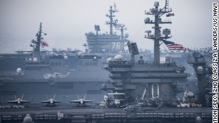 As US military flexes, North Korea marches toward nuclear capability