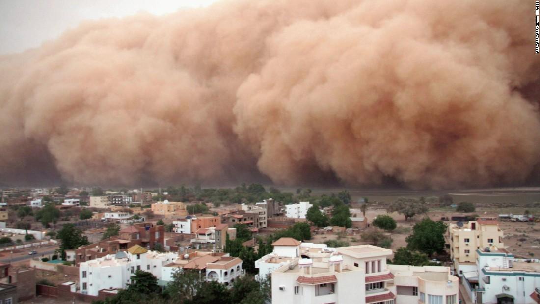 Massive Sand Storm Hits Sudan Cnn Video