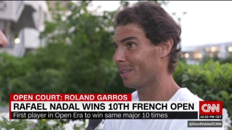 Nadal enjoys a 'unqiue' French Open victory