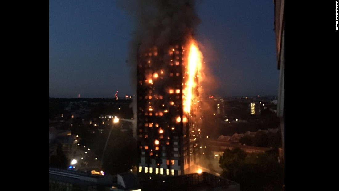 "The Royal Borough of Kensington and Chelsea has activated a ""major emergency plan"" in response to the blaze."