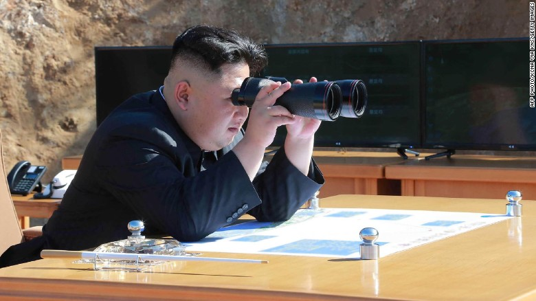 North Korean leader Kim Jong-Un inspecting the test-fire of intercontinental ballistic missile Hwasong-14 on July 4.