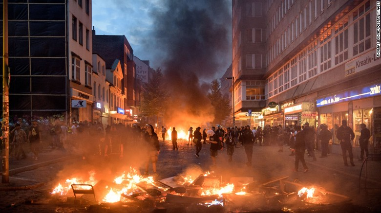Image result for hamburg protest g20