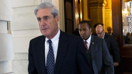 Former FBI Director Robert Mueller, special counsel on the Russian investigation, leaves the US Capitol building following a meeting with members of the Senate judiciary committee on June 21.