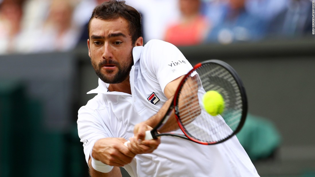 Cilic plays double-handed backhand.