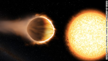 Exoplanet has a 'glowing water vapor' atmosphere