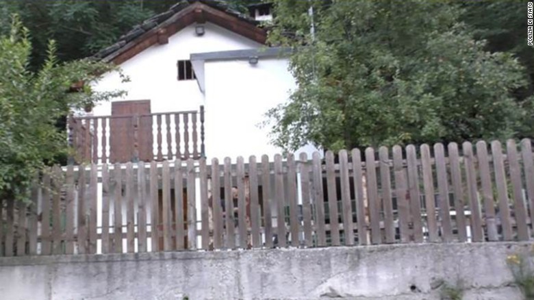 This small house in the Italian Alps was where the woman was kept, police said.