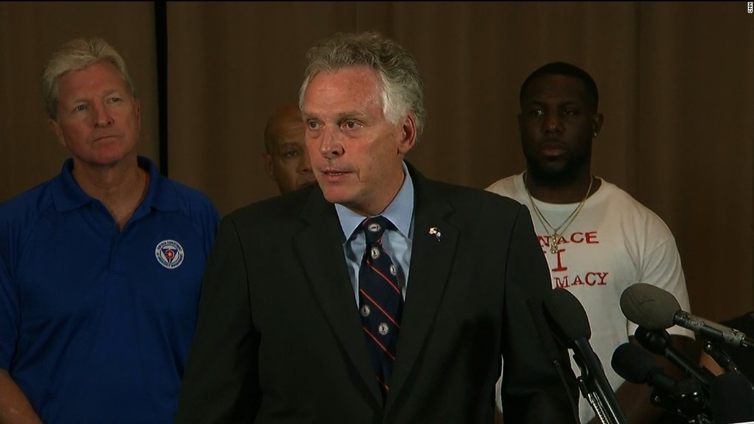 image of Virginia Gov. to white supremacists: Go home