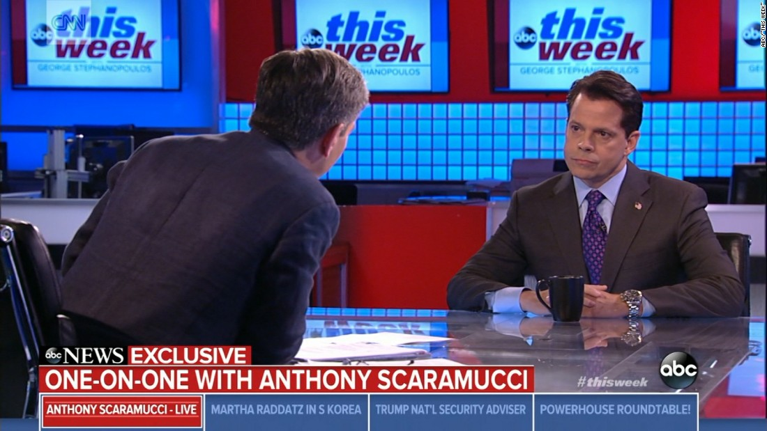 image of Scaramucci on Trump and Charlottesville