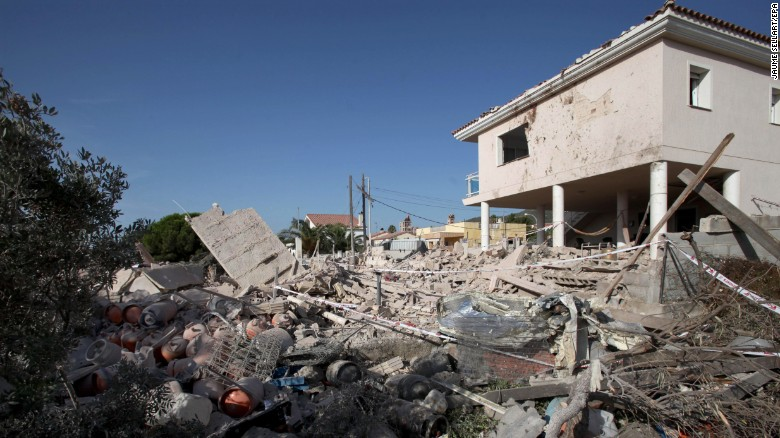 The debris of a house in the village of Alcanar may hold clues about the terror cell's plans.