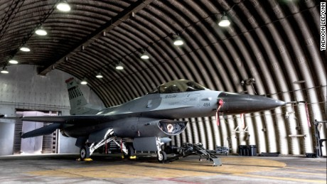 Osan Air Base is home to two squadrons of F-16 fighter jets, which are capable of traveling 16 miles per minute.