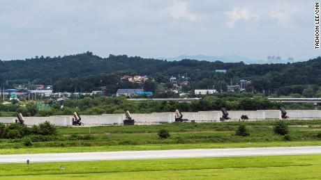 US Patriot missile interceptors at Osan Air Base to guard against missile attacks from North Korea.