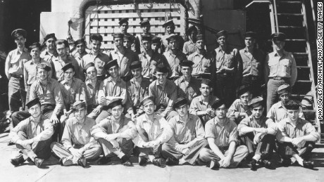 Part of the crew of the USS Indianapolis prior to its sinking in July 1945.