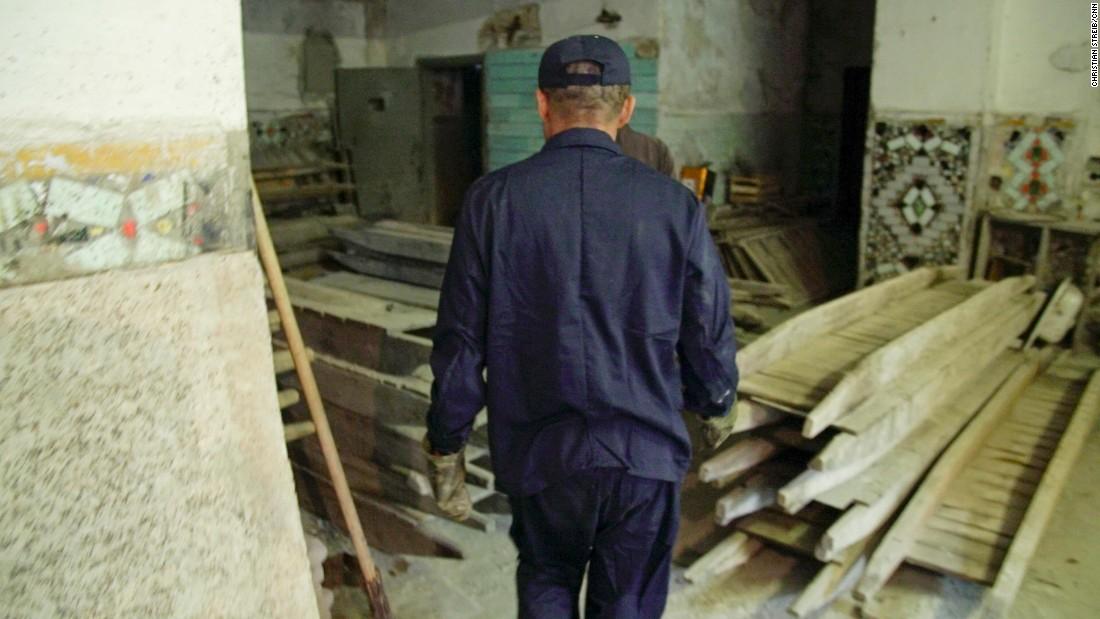 'X5' is seen working at a prison near Zhytomyr, Ukraine.
