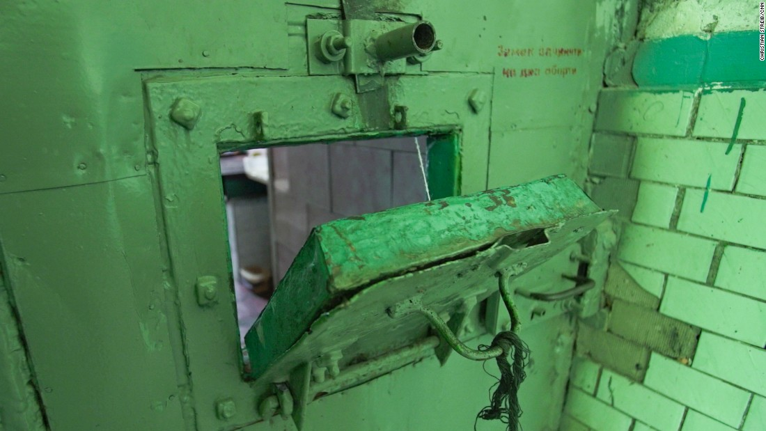 The door to a cell where X5 is serving his prison term.