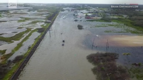 Drone Footage Shows Harvey S Destruction Cnn Video