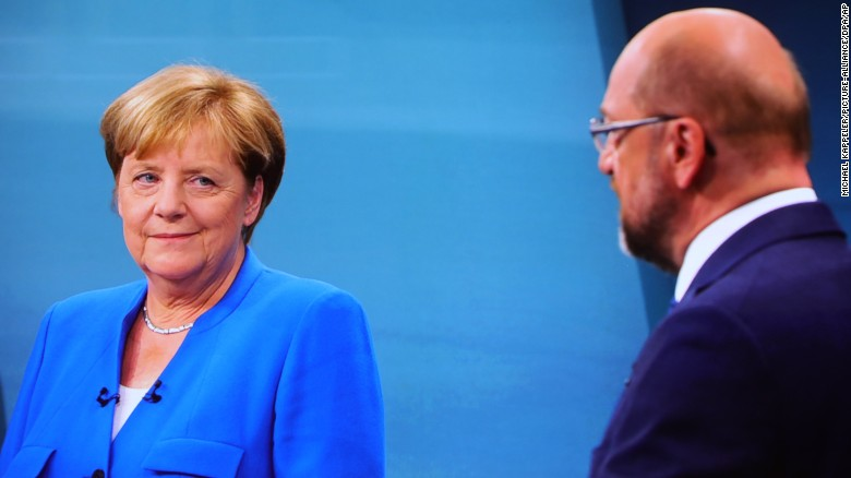 The comments about Turkey came during a live TV debate between Merkel and Schulz on Sunday night.
