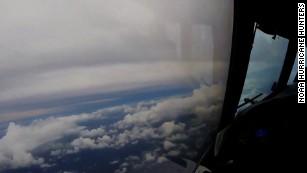 See Hurricane Irma from inside an airplane