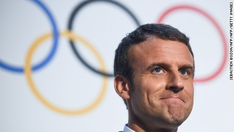 French President Emmanuel Macron has thrown his weight behind Paris' bid for the Olympic Games.