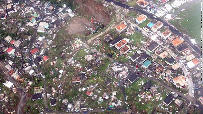 Hurricane Maria obliterated homes on the island of Dominica.