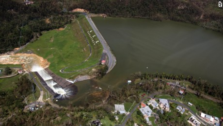 "The Guajataca Dam suffered ""infrastructure"" damage following Hurricane Maria."