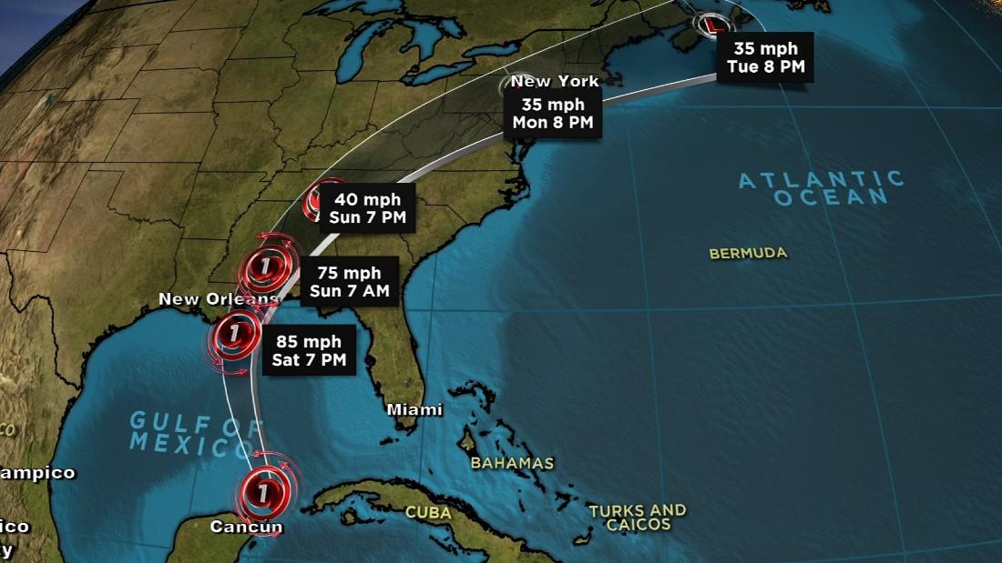 171006235726 hurricane nate path 100617 2350 super tease - Football News Cnn