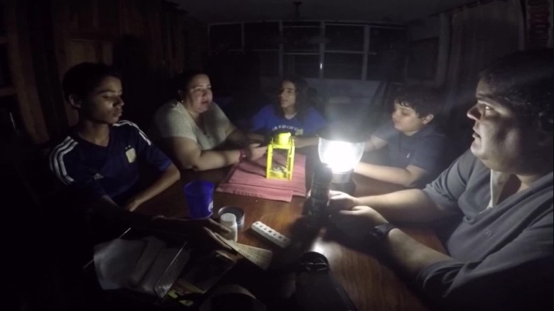 Puerto Rico people are without electricity (hurricane)