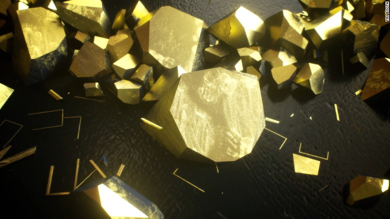 The mesmerizing surface of gold